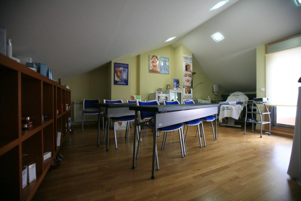 Zona de formación en las instalaciones de cosmédica